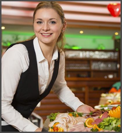 Foodfare Catering Dublin - Waitress Image